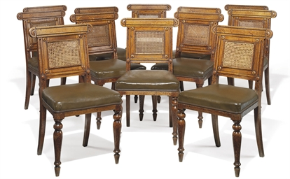 A SET OF TWENTY GEORGE IV OAK