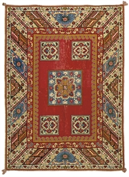 A EUROPEAN NEEDLEPOINT CARPET