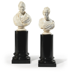 TWO ENGLISH IVORY BUSTS OF WIL