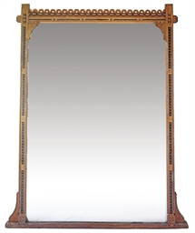 AN EARLY VICTORIAN EBONISED AN