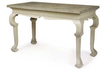 A GEORGE II STYLE GREY-PAINTED