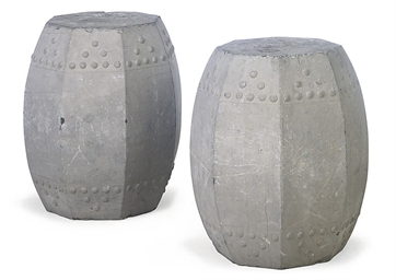 A PAIR OF MING-STYLE GREY-PAIN
