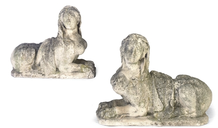 A PAIR OF ITALIAN CARVED STONE