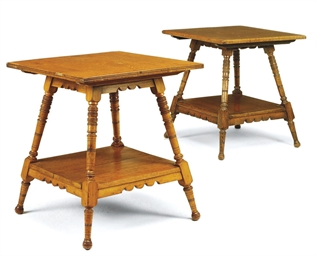 A NEAR PAIR OF VICTORIAN OAK O