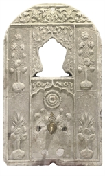 AN OTTOMAN CARVED MARBLE WALL