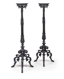 A PAIR OF GERMAN CAST-IRON AND