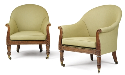 A PAIR OF REGENCY GOTHICK OAK