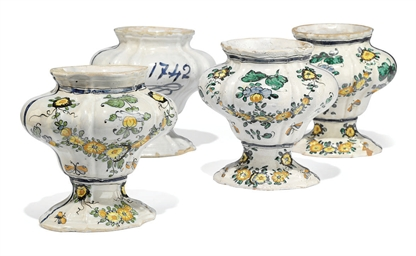 FOUR NORTH ITALIAN FAIENCE VAS