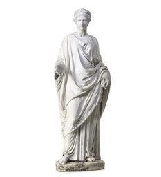AN ITALIAN CARVED MARBLE SCULP