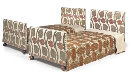 A PAIR OF SUSANI-UPHOLSTERED S