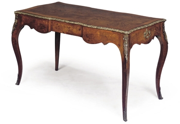 A FRENCH FIGURED WALNUT AND OR