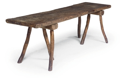 AN UNUSUAL OAK TABLE