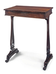 A REGENCY ROSEWOOD SIDE TABLE