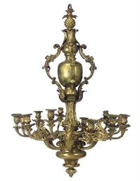 A VICTORIAN LACQUERED BRASS CH