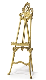 A FRENCH GILTWOOD EASEL
