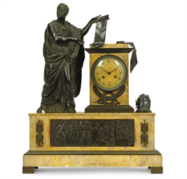 AN EMPIRE BRONZE AND MARBLE FI