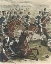 The 13th Light Dragoons in the Light Cavalry charge at Balaclava, 1854