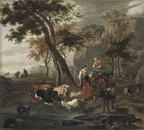 A wooded landscape with drover