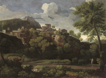 An Italianate landscape with a