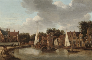 A view of Amsterdam with ferri