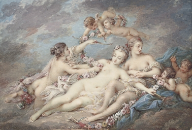 Venus attended by nymphs and a