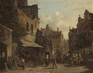Market day in a Dutch town