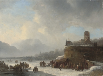 Skaters at a fort