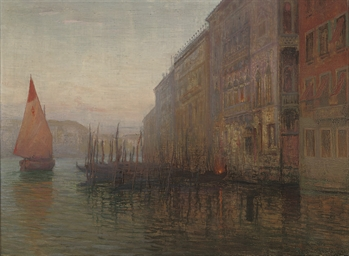 Dawn on the Grand Canal, Venic