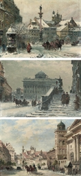 Three views of Warsaw market s
