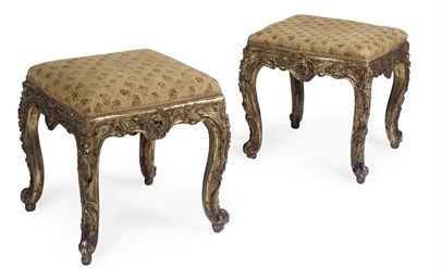 A PAIR OF ITALIAN GILTWOOD TAB