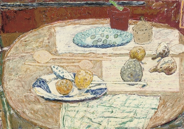 Still life on a round table