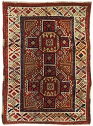 An antique Bergama rug