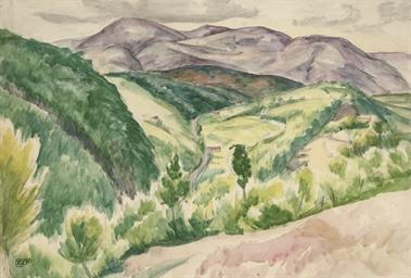 Cumbrian landscape; Still life