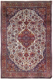 A fine silk Kashan carpet