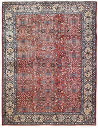A fine antique Tabriz carpet