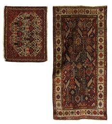 An antique Qashqai rug & fine