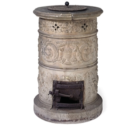 AN EARTHENWARE STOVE