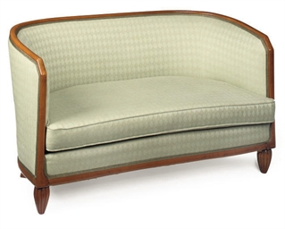 A FRENCH BEECH-FRAMED SOFA