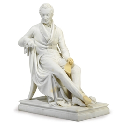 A MARBLE STATUE OF PRINCE KLEM