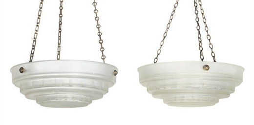 A PAIR OF SABINO GLASS HANGING