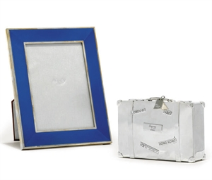 A SILVER AND ENAMEL PHOTOGRAPH