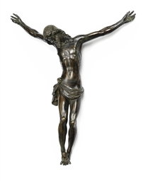 A BRONZE FIGURE OF THE CRUCIFI