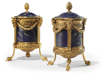 A PAIR OF ITALIAN ORMOLU AND L