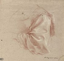 Drapery study of a woman's sleeve