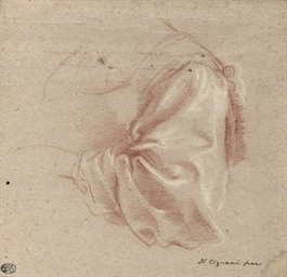 Drapery study of a woman's sle