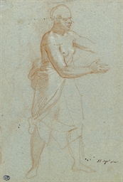 A standing female figure