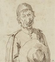 Caricature of Père Conti of the French Mission in Rome