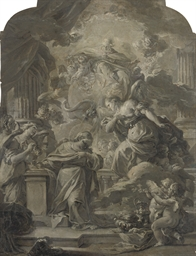The Annunciation with an alleg