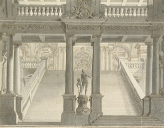 The interior of a palace with