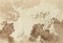 Design for a ceiling: Allegory of Dawn
